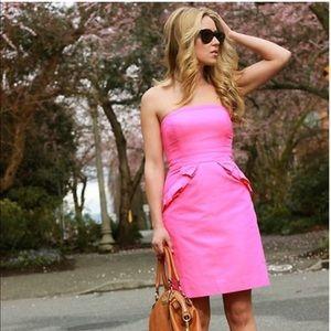 J Crew strapless dress. Pink 💕 size 6